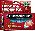 Dentemp Denture Repair Emergency Denture Repair Kit Safe & Easy To Use- 3 Repairs