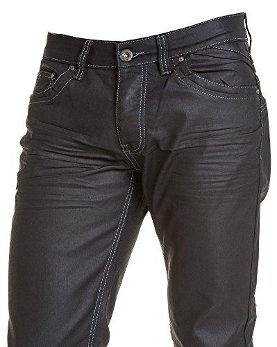 BLZ jeans - Jeans homme noir luisant coupe droite Noir