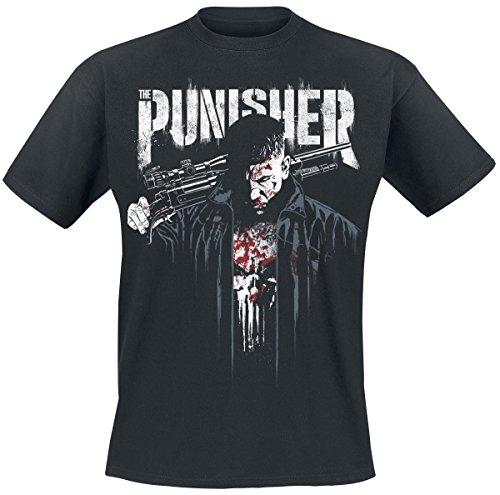 PUNISHER Para Hombre de La Camiseta de Algodón Vestido de Negro...