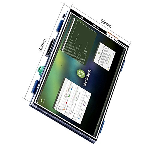 + Kuman For Raspberry PI 3 Generation TFT Touch Screen 3.5 Inch 1920 * 1080 TFT LCD Display Monitor Supports all Raspberry PI Systems Video and Movie Play Arcade Game HDMI Audio Input SC6A comprare on line