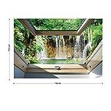 Wasserfall 3D-Dachfenster-Ansicht Vlies Fotot...Vergleich