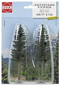 Busch - Árbol para modelismo ferroviario Escala 1:87 (13x2x2 cm)