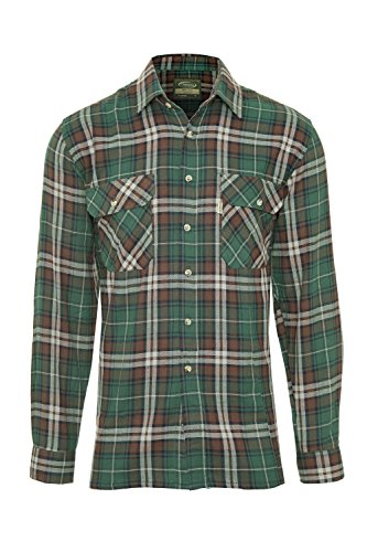 Champion Country Clothing - Camisa Casual - para Hombre Verde Verde  XXXX-Large e67105d8c63