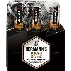 JUSTUS Sistema pelo cosmético Hermanns cerveza y lúpulo Champú Sixpack, 1500ml