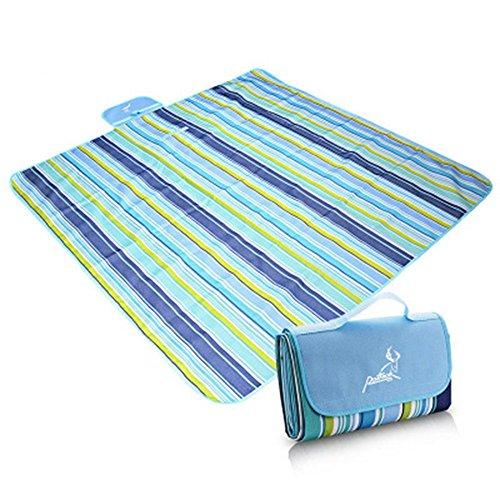 FENG Faltbare Kriechen matpicnic Decke Wasserdicht Extra Großen Outdoot Decke mit Einem unterstützung für Familie,145 * 200 Green