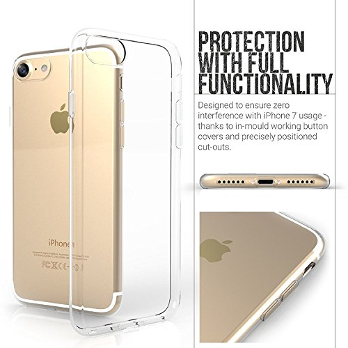 8dece8fc7ff Premium Quality Ultra Thin Soft Silicone Transparent Back Case Cover for Apple  iPhone 7 on Amazon