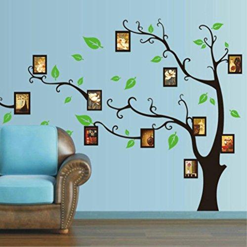 Dragon868 3d diy foto albero muro pvc decalcomanie adesivo arte murale casa decor parete adesivi (b)