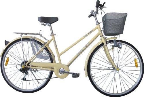 2Fast4You Damen Cityrad und Cruiser, Cappuccino, Rahmenhöhe: 52 cm, Reifengröße: 26 Zoll, 66 cm, PC-122606S
