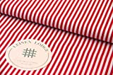 Leinen Lodge Webware Baumwolle Streifen ROT Landliebe