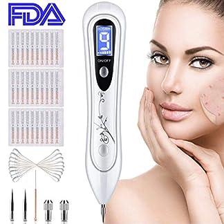 Manchas Cara Eliminación, BUDDYGO Skin Tag Mole Removal Pen Intensidad de 9 Niveles para Cara y Cuerpo (Verrugas, Nevus, Tatuajes, Pecas, Manchas) con LCD y Agujas Reemplazables, Seguro y Eficiente
