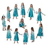 Mädchen Eiskönigin Prinzessin ELSA Schneeprinzessin Kostüm Kinder - Handschuhe und Kleid - Gr 116 cm (5-6 Jahre) für Mädchen Eiskönigin Prinzessin ELSA Schneeprinzessin Kostüm Kinder - Handschuhe und Kleid - Gr 116 cm (5-6 Jahre)
