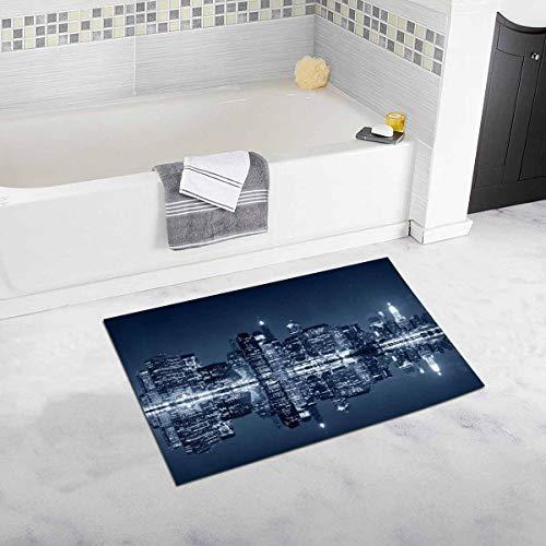 New York City Blick von Brooklyn Home Decor rutschfeste weiche Badteppich Matten Duschvorleger für Badezimmer Badewanne Schlafzimmer ()