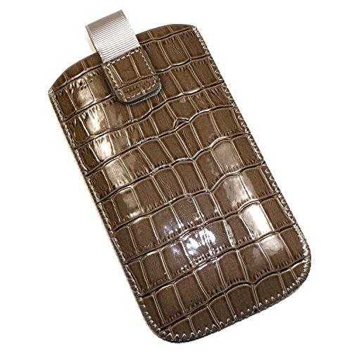 Schutzhülle Tasche Lederoptik für mobile Alcatel Bouygues Telecom BS471