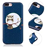 iPhone 8 Plus Case, MingKun Protective TPU Thin Soft Cover for iPhone 8 Plus / iPhone 7 Plus Shockproof Anti-Scratch Pattern Flexible Case Cover Skin - Tree Owl