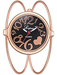 Relojes Pulsera Esfera Grande Escala del Numeral Árabe Relojes Mujer Pulsera de Cadena de Acero Inoxidable