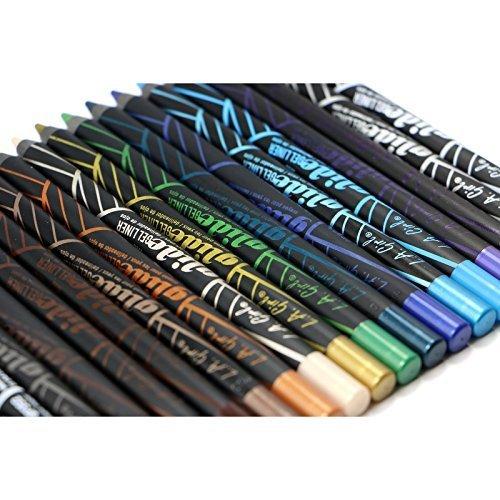 19pc LA Girl Gel Glide Eyeliner Pencil set of 19 color #GP351-369 by LA Girl