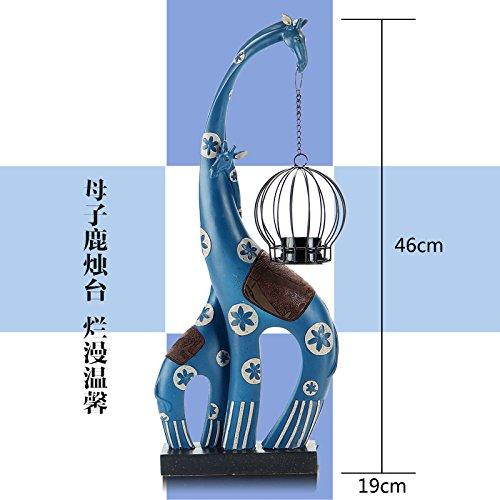 Toaryong Jirafa Elefante Velas Candelabro Decoración Moderna,Madre Candelabro De Ciervo