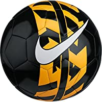Nike NK React Balón de Fútbol, Unisex Adulto, Negro / (Black/Laser Orange/White), 5