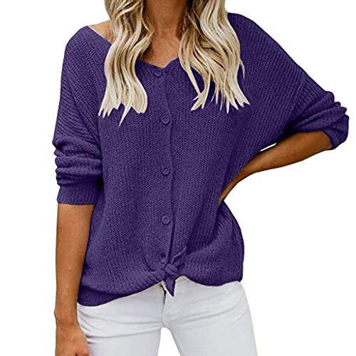 TianWlio Langarmshirt Damen Longbluse Hemdbluse Lange Ärmel Schulterfrei Sweatshirt Taste Runter Hemden Sexy Tops Bluse