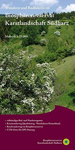 Biosphärenreservat Karstlandschaft Südharz: Rad- und Wanderkarte 1:25 000 (2. Ausgabe)