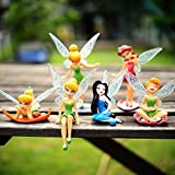 #9: Happy GiftMart 6pcs Tinker Bell Cartoon Fairy Princess Doll Action Figures Toy Gift Set For Kids