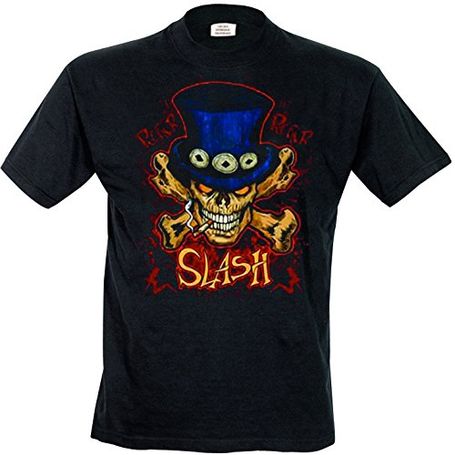 Rock Off Herren, Regular Fit, T-Shirt, Slash Crossbones Schwarz