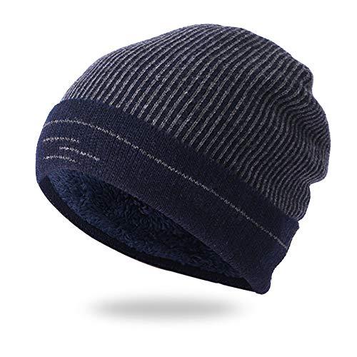 Männer Frauen Winter Kappen, Quaan Verdicken Warm Häkeln Winter Stricken Schädel Slouchy Draußen Mode Hut