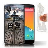Stuff4 Gel TPU Hülle/Case für LG Google Nexus 5/D821 / Pavillon Theater Muster/Englische Strand Kollektion