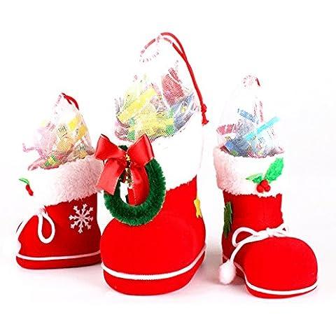 Articoli Regali di Natale creativo decorativo regali di caramelle Boots affollamento Bag piccolo regalo Stivali