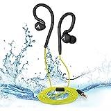 Avantree IPX8 Écouteurs intra-auriculaires étanches - pour natation et sports multiples, réduction de bruit passive , tour d'oreille à mémoire de forme - Hippocampus