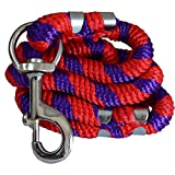 Pawzone Strong Rope Leash for Big Dogs with Big Hook (Colour May Vary)