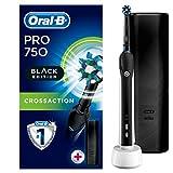 Oral-B Pro 750 Black Edition Elektrische Zahnbürste, mit Bonus Reise-Etui -