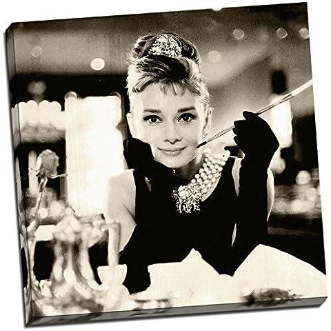 Audrey Hepburn Sepia impresión DE lienzo decorativo vertical de tamaño grande de fotos de madera de 20 x 50,8 cm
