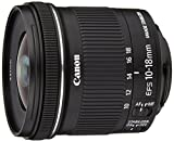 Canon Ultraweitwinkelobjektiv mit Zoom, EF-S 10 – 18 mm f/4.5 – 5.6 IS STM, Schwarz/Anthrazit – Version Canon Pass Italien