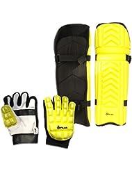 ES Splay Moulded Gloves & Pads Set - Yellow - Medium