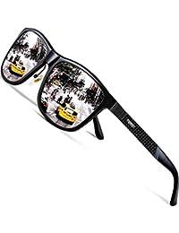 ATTCL Men's Driving Polarized Wayfarer Sunglasses Al-Mg Metal Frame Ultra Light