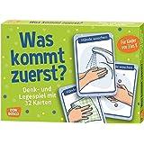 Was kommt zuerst?: Denk- und Legespiele mit 32 Karten für Kinder von 3 bis 8