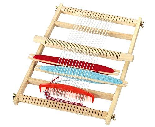 Betzold 50998 - Großer Webrahmen - Weben im Kindergarten oder Kunstunterricht, viel Zubehör, 30x40 cm