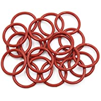 X AUTOHAUX 10pcs Brown Silicone Rubber O-Ring VMQ Seal Gasket Washer for Car 30mm x 4mm