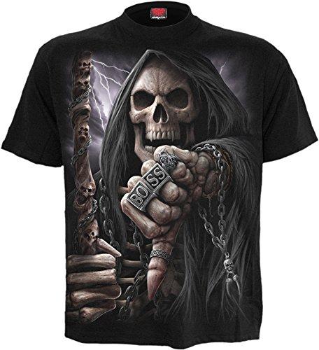Spiral -  T-shirt - Uomo Black Small