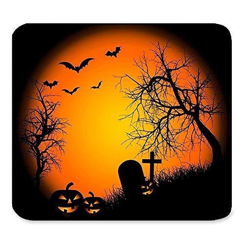 Schöner Gruseliger glücklicher Halloween-Kürbis Süßes sonst gibt's Saures Grabstein-Krähen-Schloss Schläger-Baum-Mond-Fantasie-Geschenk Einzigartige ()
