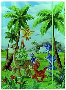 19795 Sammelmappe DIN A3 Kindergarten Dinos aus stabilem Karton mit bedruckten