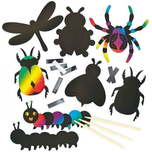 Baker Ross Imanes de Insectos para Rascar Manualidades Creativas Scratch Art Decoraciones...