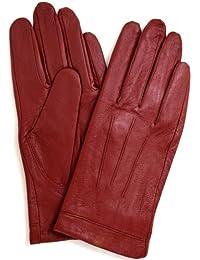 df4abdd41c90b5 Lederhandschuhe für Damen mit 3-facher Ziernaht & warmen Vliesfutter,  superweich (Schwarz /