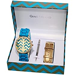 Gino Milano Women's Quartz Watch Analogue Display and Metal Strap MWF14-036A