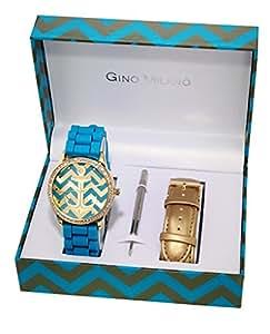 Gino Milano - MWF14-036A - Coffret Montre Femme - 2 Bracelets - Quartz Analogique - Cadran Multicolore - Bracelet Métal Multicolore