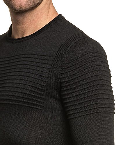 BLZ jeans - End-Mode schwarzen Mann Pullover Schwarz