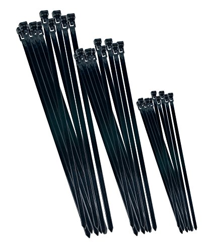 CON:P B20451 Cable Ties Reusable Set, Black, Set of for sale  Delivered anywhere in Ireland