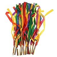 NUOLUX 12pcs Rainbow Ribbon Dance Ribbon Colored Ribbon (Multi-colored)