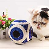 SRI High Quality Six Holes Sisal Feathered Scratch Ball For Cat/Puppy